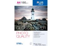 Papel Photo Plus A4 Glossy 180G 20H