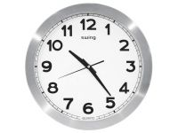 Reloj Pared Swing Aluminio 35Cm Diame