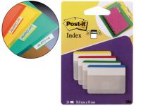 Banderitas Separadoras Rigidas Dispensador 4 Colores Post-it Index 686